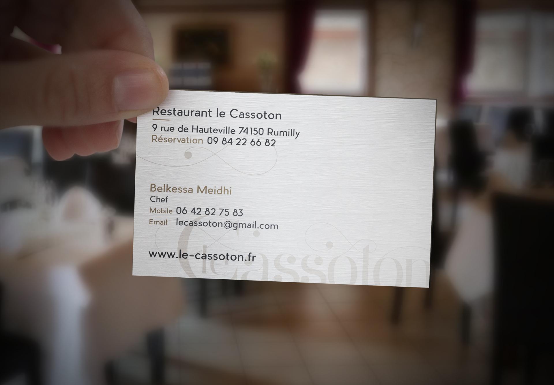 Le Cassoton – Carte de visite verso
