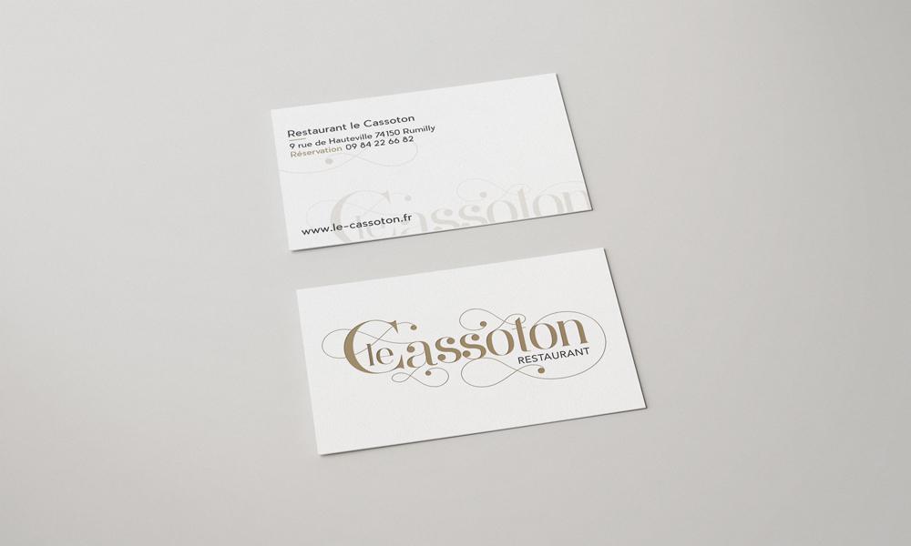Le Cassoton – Carte de visite recto/verso