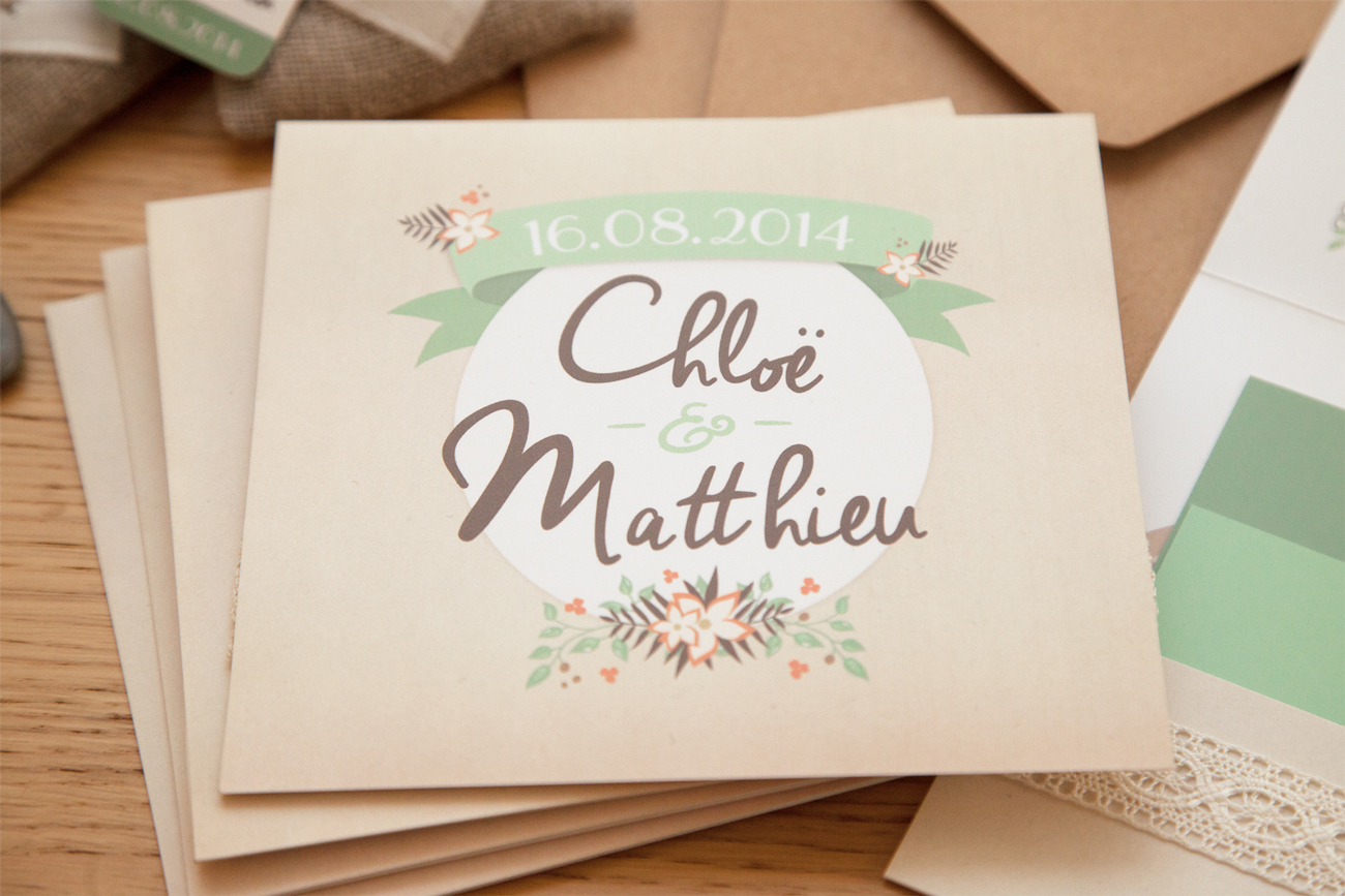 Faire-part Chloë & Matthieu – recto