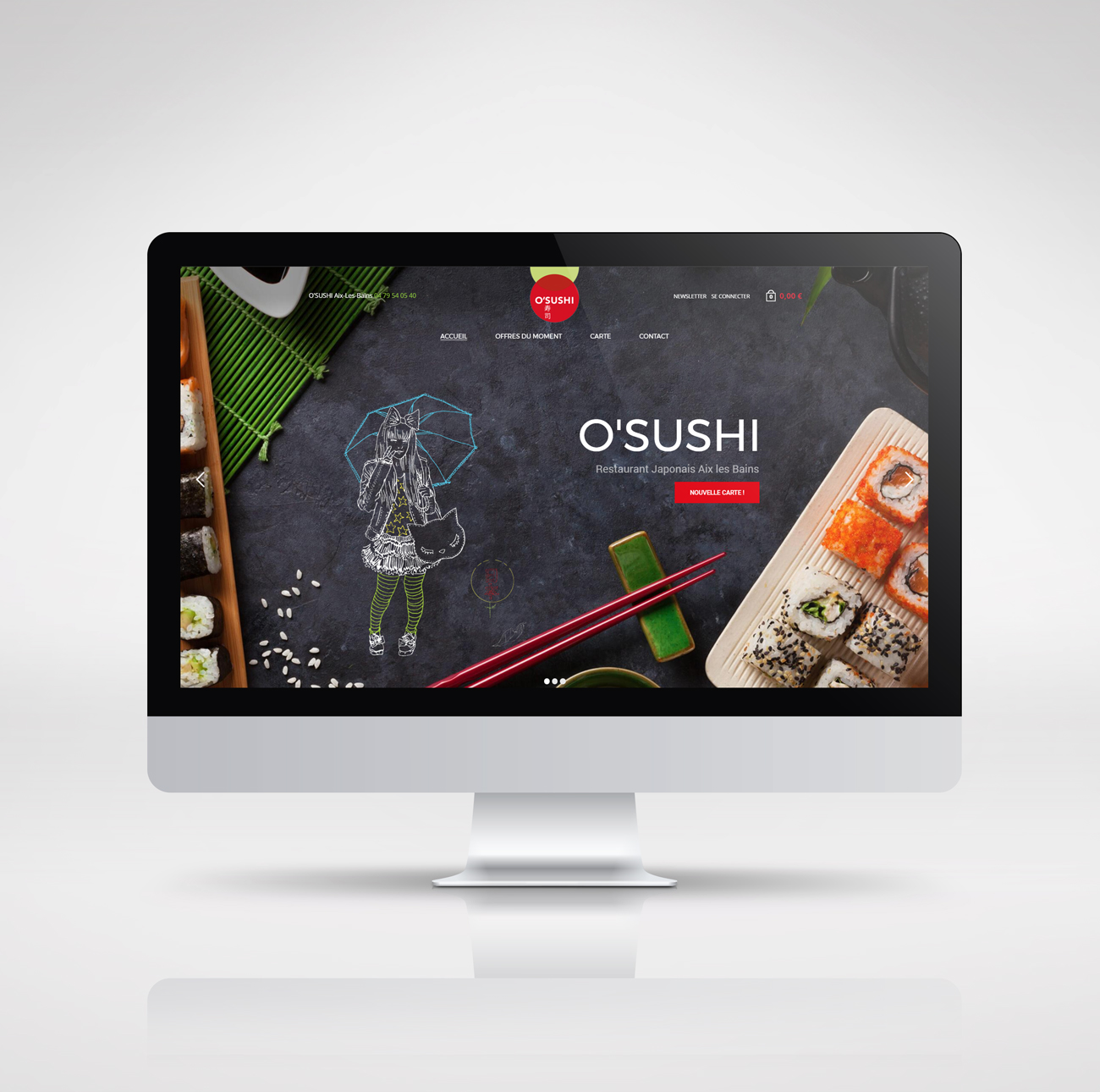 O'SUSHI – site e-commerce