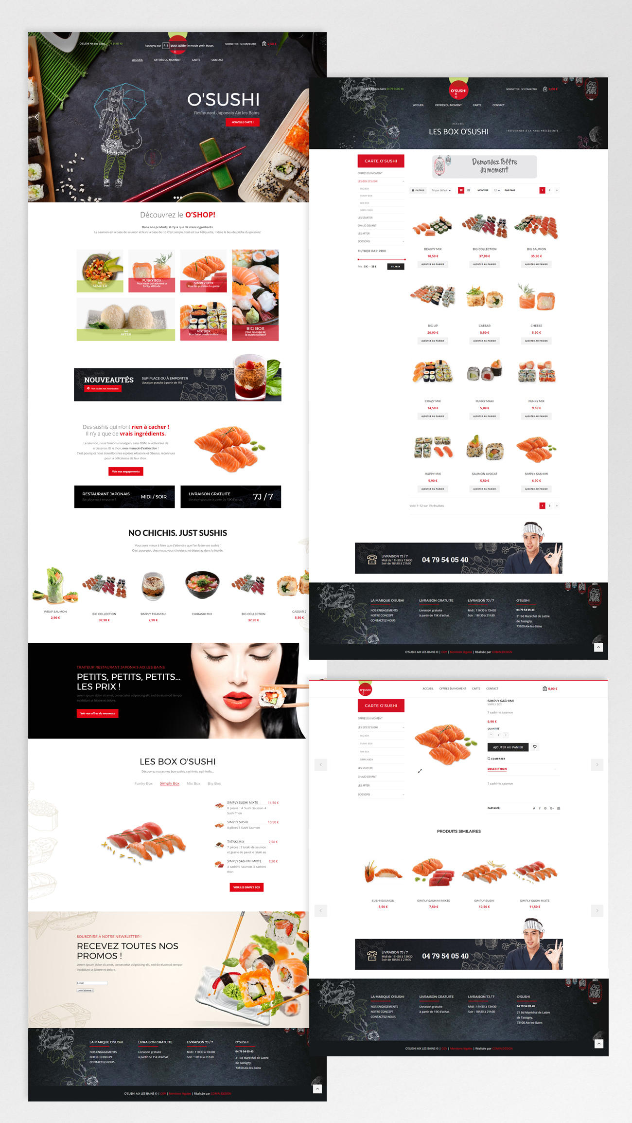 O'SUSHI – homepage / détails