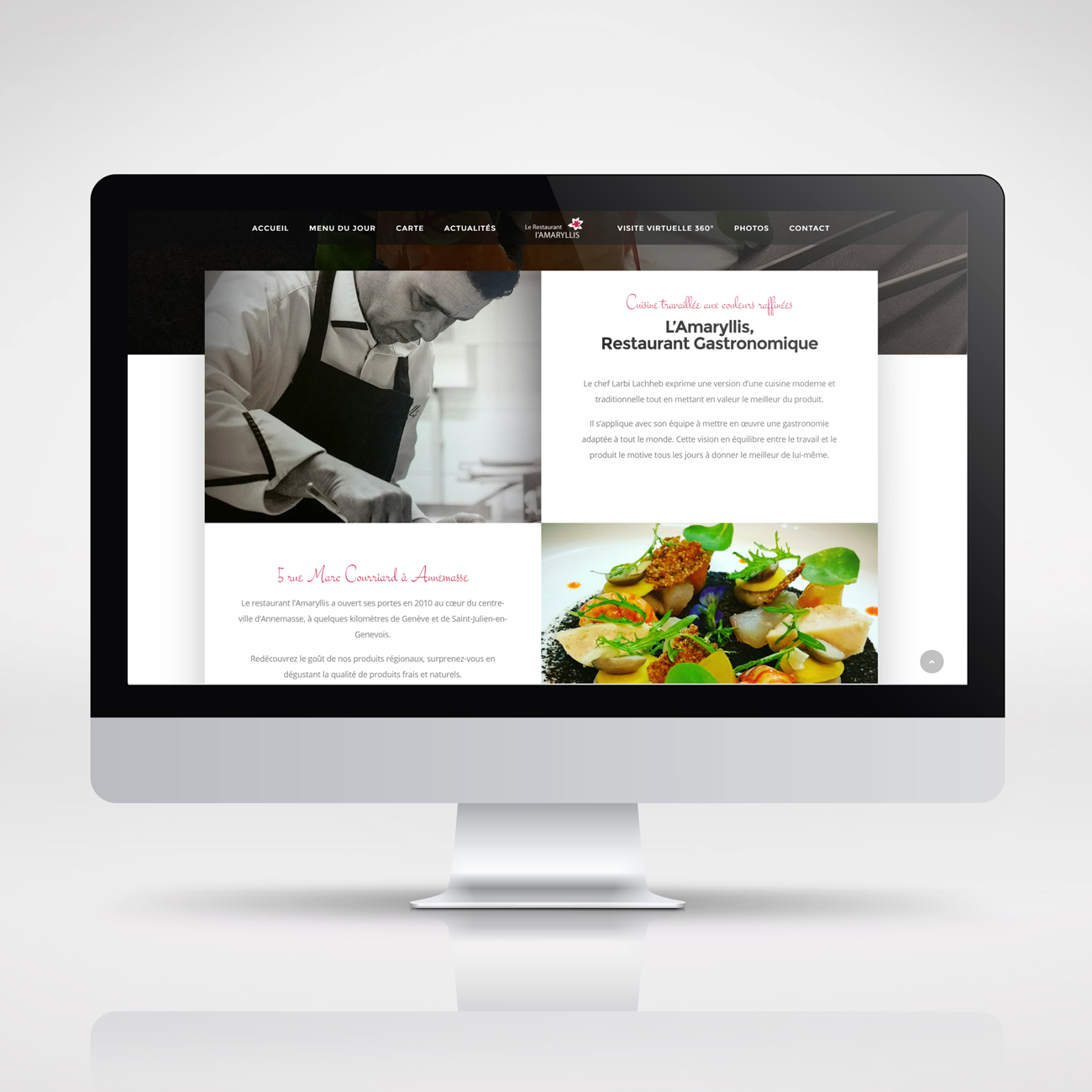 Restaurant L'Amaryllis – website