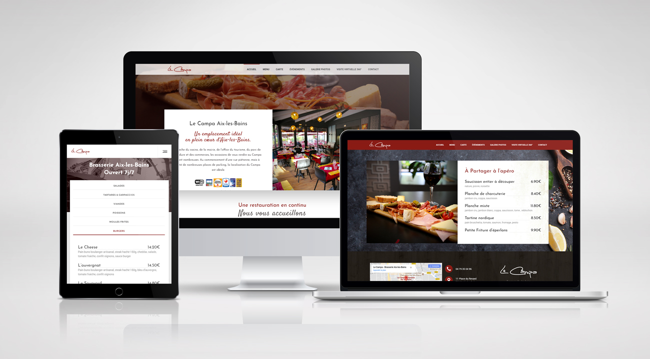 Brasserie Le Campa – website