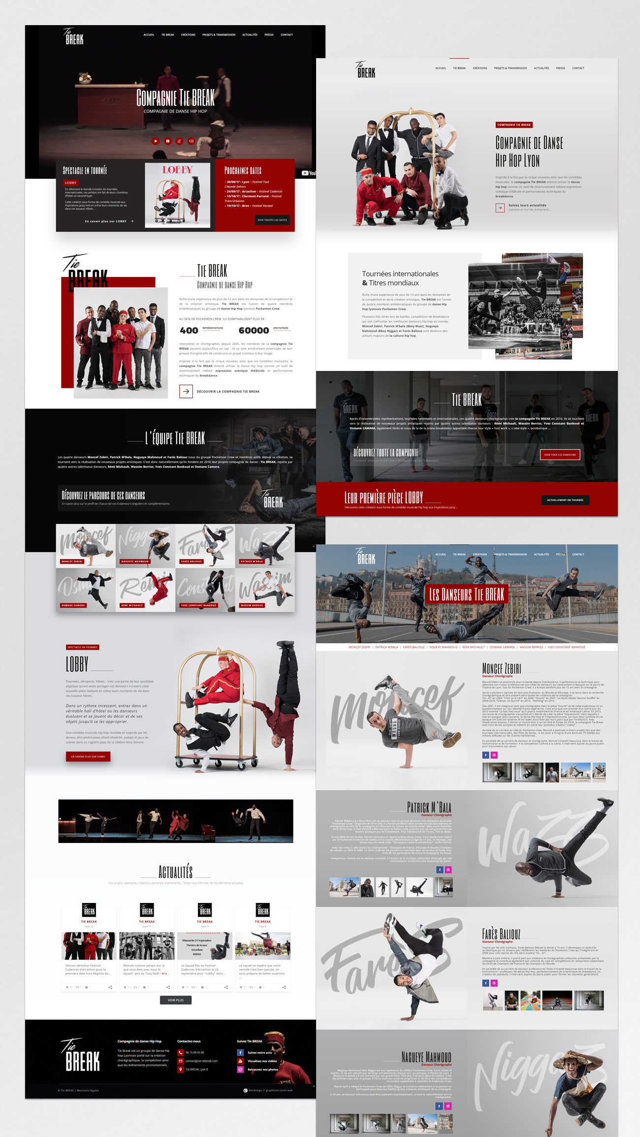 Tie BREAK – website pages