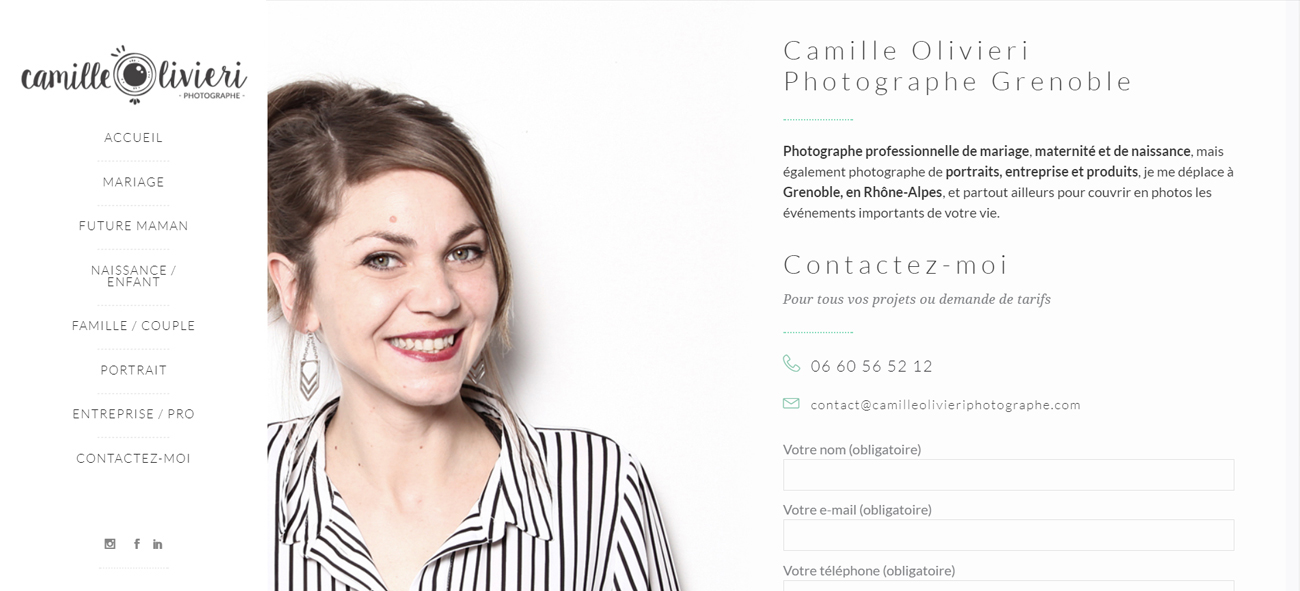 Camille Olivieri – website