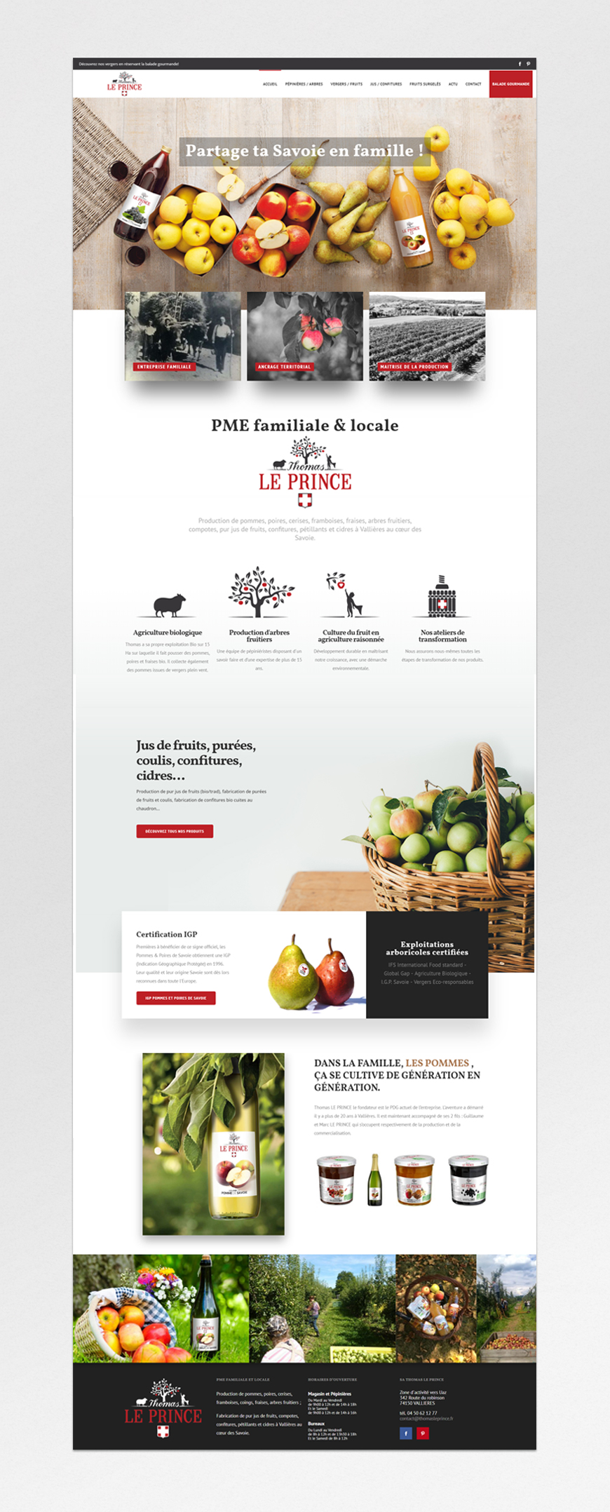 Thomas Le Prince – Website Hompage