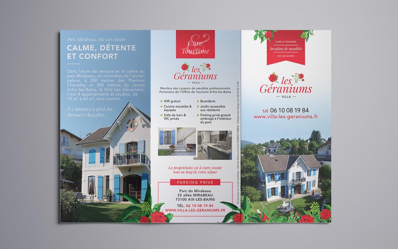 Villa les Géraniums – dépliant extérieur