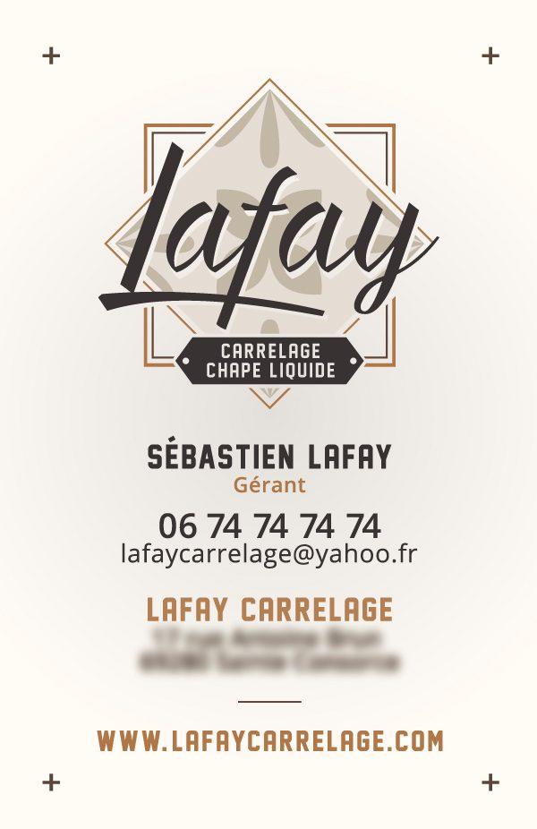 Lafay – carte de visite verso